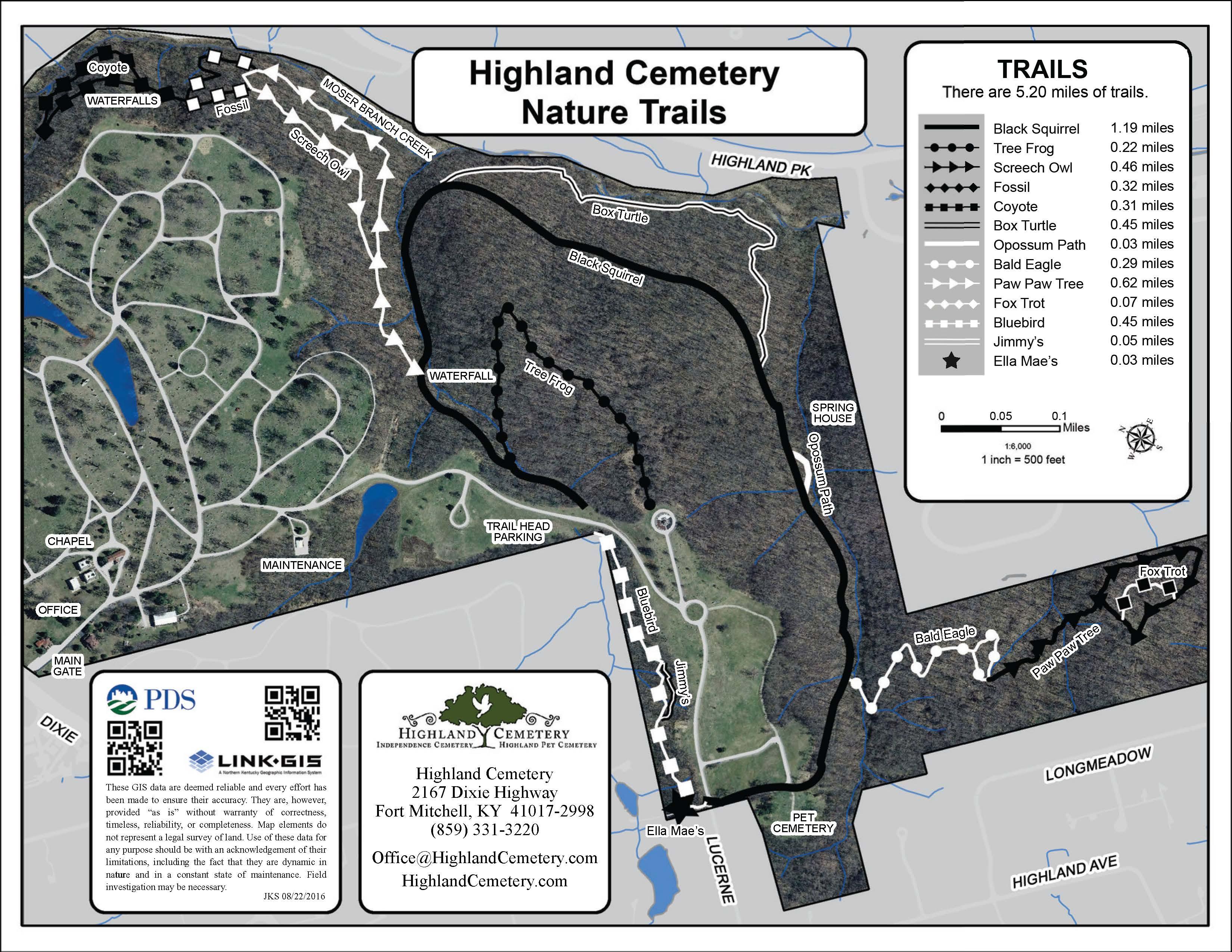 highland cemetery nature trails color link gis. Black Bedroom Furniture Sets. Home Design Ideas