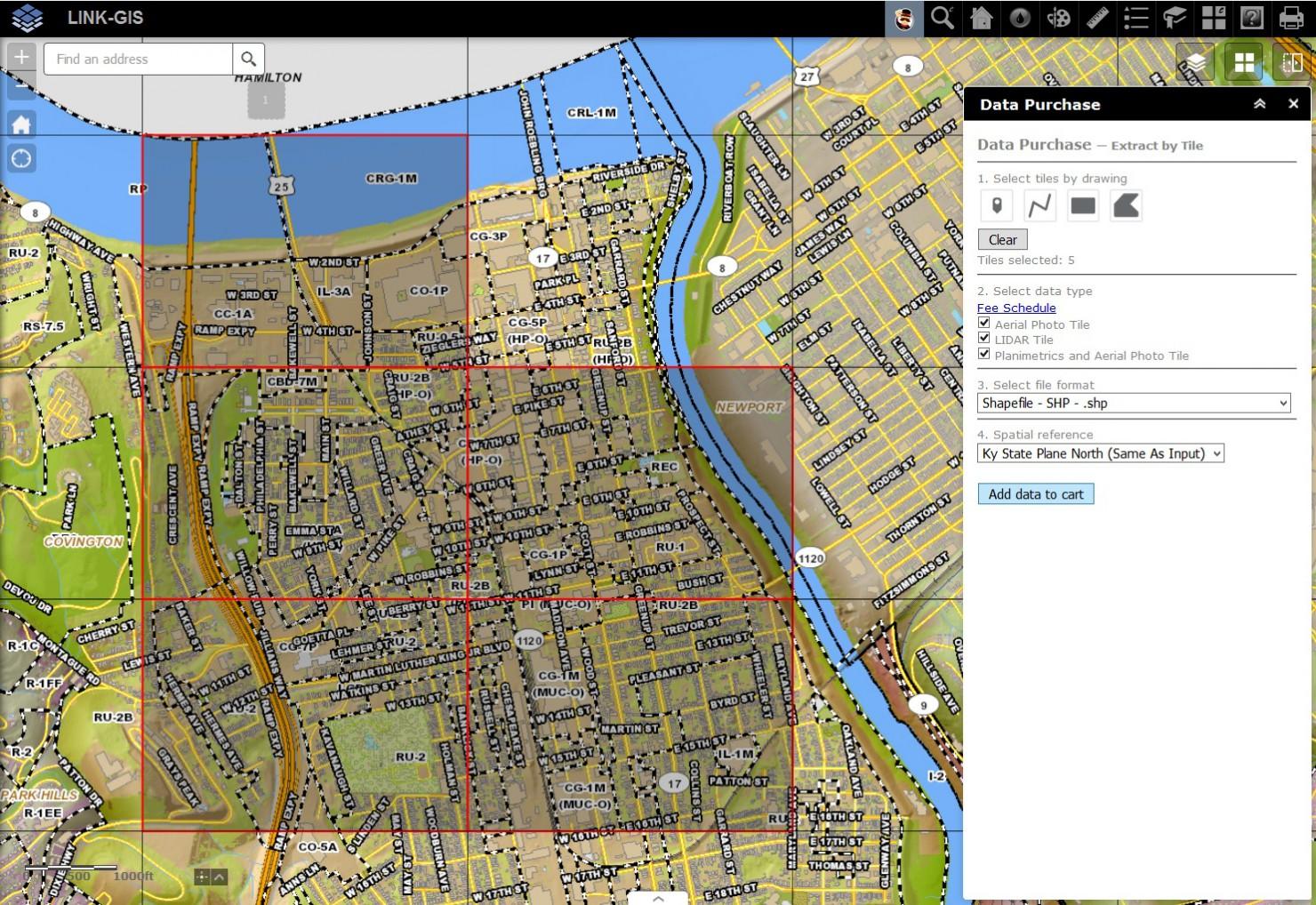 Digital Data by Tile - LINK-GIS